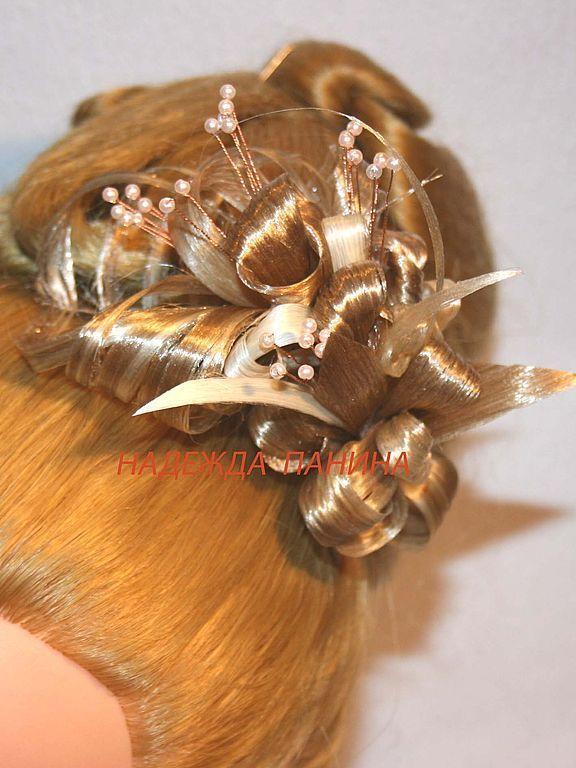 Цветы из натурального волоса
