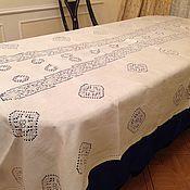 Для дома и интерьера ручной работы. Ярмарка Мастеров - ручная работа Льняная скатерть ручной работы. Handmade.