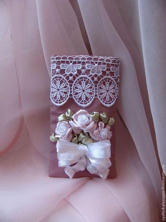 Для телефонов ручной работы. Ярмарка Мастеров - ручная работа. Купить Чехол для телефона. Handmade. Розовый, розы, букет роз