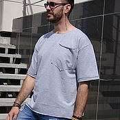 Одежда handmade. Livemaster - original item Men`s grey jacket-short sleeve t-shirt. Grey lightweight jacket.. Handmade.
