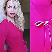 Одежда ручной работы. Ярмарка Мастеров - ручная работа Платье малиновое. Handmade.