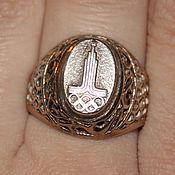 Кольцо перстень серебро 875 звезда СССР Олимпиада 80