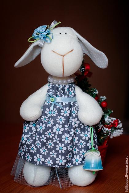 Игрушки животные, ручной работы. Ярмарка Мастеров - ручная работа Овечка, как символ года. Handmade.