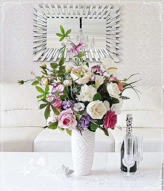 """Интерьерные композиции ручной работы. Ярмарка Мастеров - ручная работа. Купить Букет цветов в вазе """"Вещунья"""". Handmade. Ваза, золото"""