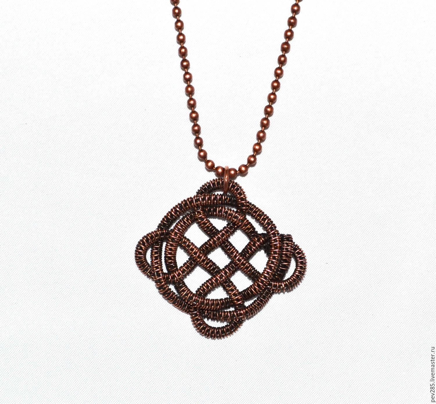 Celtic knot - pendant from the wire in the Wire wrap technique ...