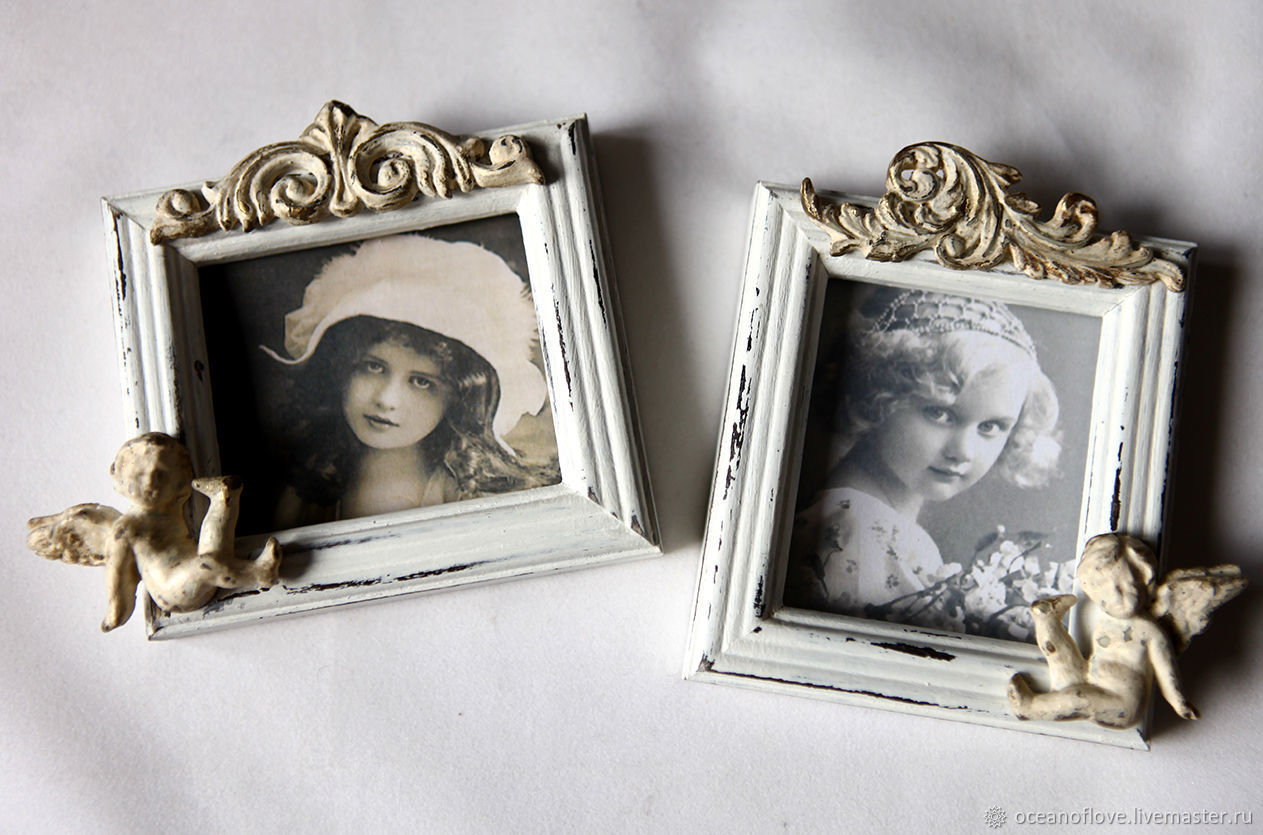 Vintage charm. Small photo frames.French style – shop online on ...