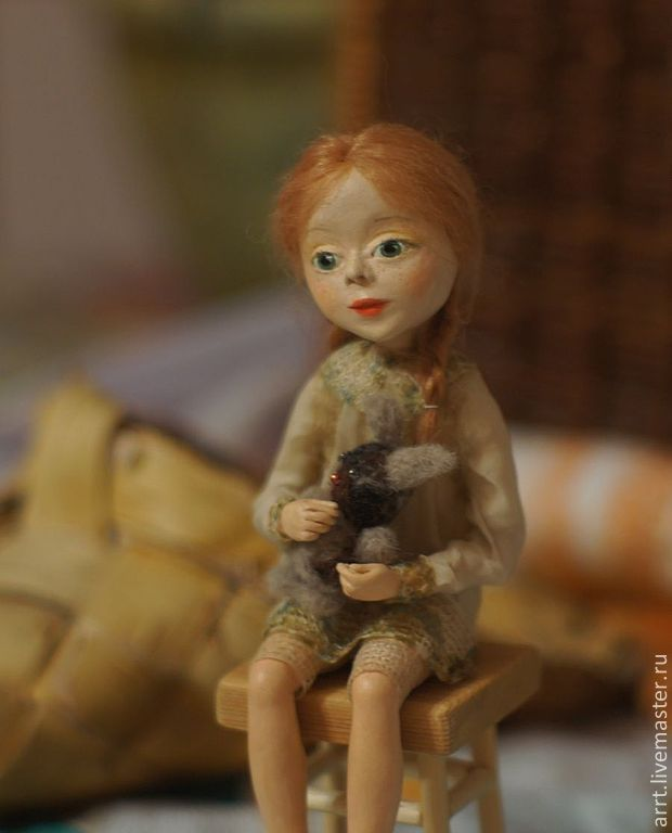 Darenkov doll with Bunny art doll, Dolls, St. Petersburg,  Фото №1