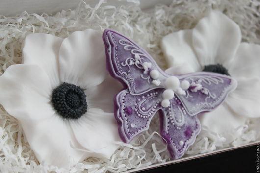 """Мыло ручной работы. Ярмарка Мастеров - ручная работа. Купить Набор """"Волшебная весна"""". Handmade. Комбинированный, бабочка, 8марта"""