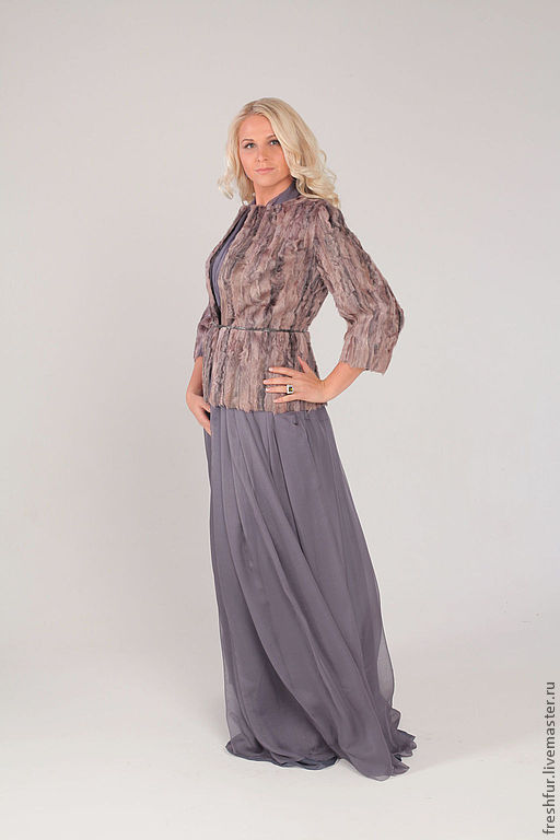Верхняя одежда ручной работы. Ярмарка Мастеров - ручная работа. Купить Жакет из розово-серой каракульчи SALE 20% !!! от указанной цены. Handmade.