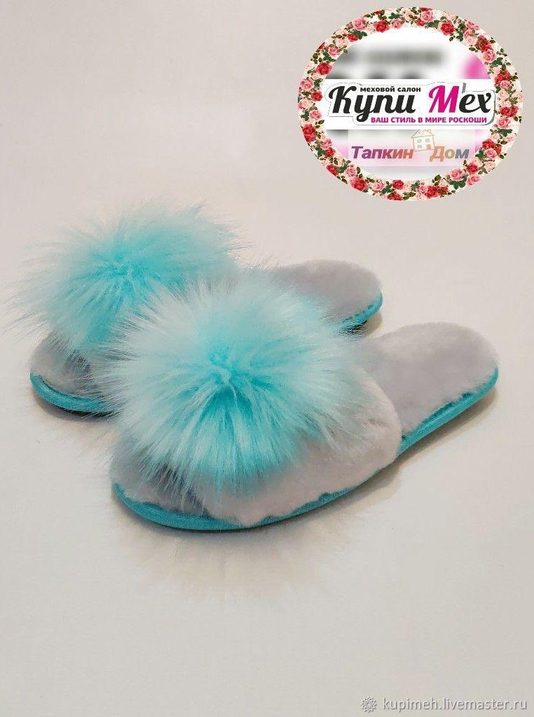 Women's open-toed sheepskin Slippers, Slippers, Nalchik,  Фото №1