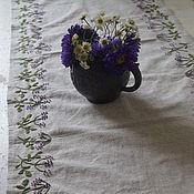 Для дома и интерьера handmade. Livemaster - original item Table track, linen, hand embroidery. Handmade.