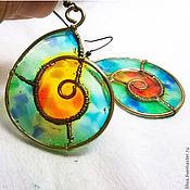 Украшения handmade. Livemaster - original item Earrings stained glass