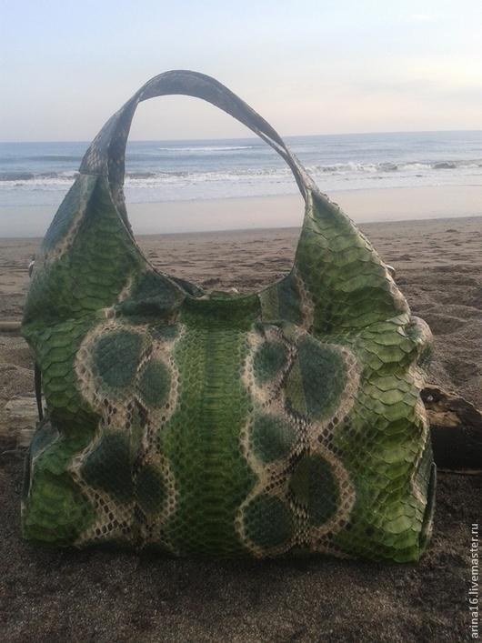 Женские сумки ручной работы. Ярмарка Мастеров - ручная работа. Купить сумка зелёная. Handmade. Зеленый, сумка кожаная
