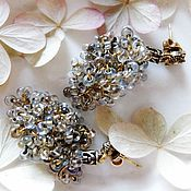 "Украшения handmade. Livemaster - original item Beaded earrings ""White grapes"". Handmade."