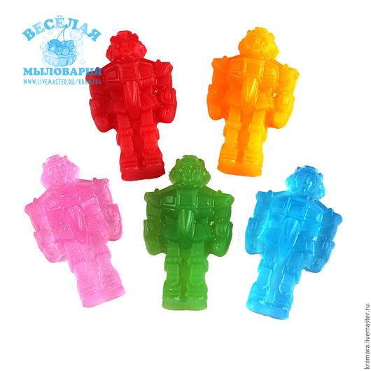"""Мыло ручной работы. Ярмарка Мастеров - ручная работа. Купить Мыло """"Робот"""". Handmade. Разноцветный, мыло для мальчика, подарок робот"""