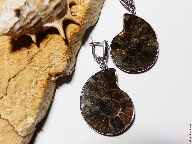 Earrings Ancient ocean Ammonites, Earrings, Gatchina,  Фото №1