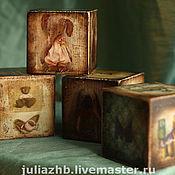 Для дома и интерьера ручной работы. Ярмарка Мастеров - ручная работа Винтажные кубики. Handmade.