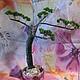 Деревья ручной работы. Ярмарка Мастеров - ручная работа. Купить Бонсай из бисера. Handmade. Бонсай, розовый, дерево, бонсай из бисера
