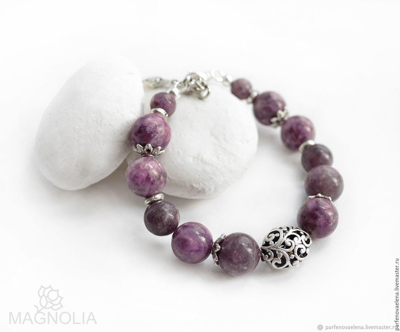 Bracelet lepidolite Veresk, Bead bracelet, Omsk,  Фото №1