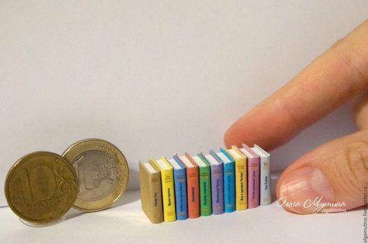 Кукольный дом ручной работы. Ярмарка Мастеров - ручная работа. Купить Детские мини-книжки 1:12. Handmade. Миниатюра, комбинированный