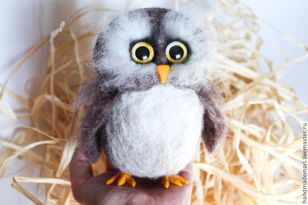 Sovushka, serious felted toy, Felted Toy, Moscow,  Фото №1