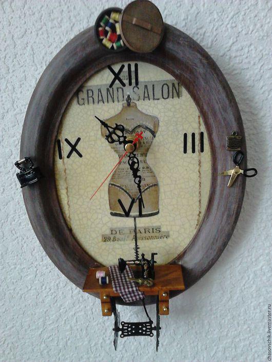 """Часы для дома ручной работы. Ярмарка Мастеров - ручная работа. Купить Часы настенные """"Ателье"""". Handmade. Часы настенные"""
