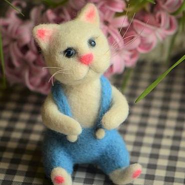 Куклы и игрушки ручной работы. Ярмарка Мастеров - ручная работа Войлочный Весенний котенок. Handmade.