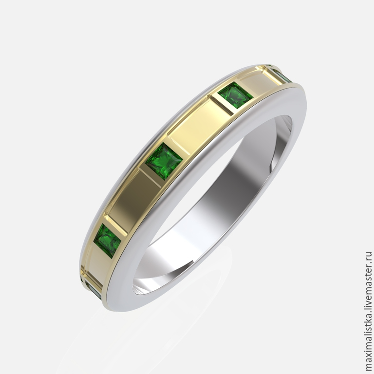 "Buy Ring ""EMERALD"" with emeralds gold gold gold emerald on"