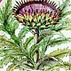Order The painted porcelain.Plate ' Botanical prints. Thistle'. ArtFlera (artflera). Livemaster. . Plates Фото №3