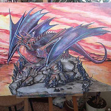 Картины и панно ручной работы. Ярмарка Мастеров - ручная работа Дракон. Handmade.