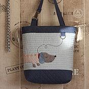 Сумки и аксессуары handmade. Livemaster - original item bag a Walk with a Dachshund. Handmade.