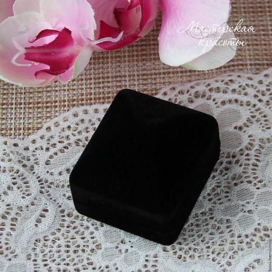 Упаковка ручной работы. Ярмарка Мастеров - ручная работа. Купить Подарочная бархатная коробочка для украшений (для кольца). Handmade. Коробочка