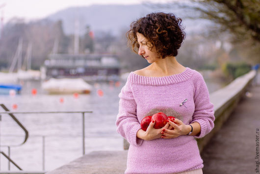 """Кофты и свитера ручной работы. Ярмарка Мастеров - ручная работа. Купить Свитер вязаный пепельно-розовый """"Желание"""". Handmade."""