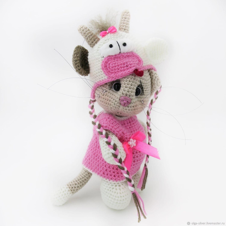 Игрушка кошка в костюме коровки, Мягкие игрушки, Кумертау,  Фото №1