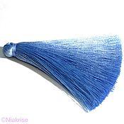 Материалы для творчества ручной работы. Ярмарка Мастеров - ручная работа Кисти для украшений синие 8-8,5 см k111. Handmade.
