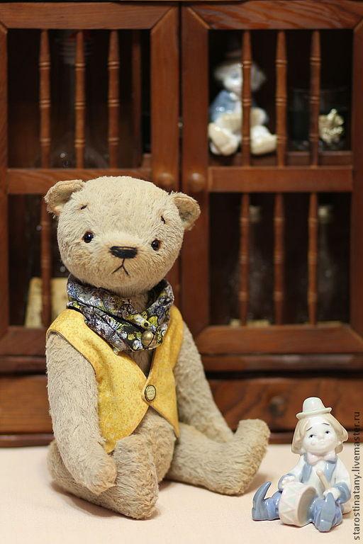 Мишки Тедди ручной работы. Ярмарка Мастеров - ручная работа. Купить Мишка Тедди Яков, 30см. Handmade. Бежевый