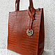 Женские сумки ручной работы. Ярмарка Мастеров - ручная работа. Купить СИТИ модификация, рыжая сумка из натуральной  кожи. Handmade.