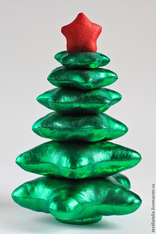 Новый год 2017 ручной работы. Ярмарка Мастеров - ручная работа. Купить Новогодняя Елочка из ткани. Handmade. Зеленый, новогодний интерьер