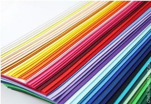 Валяние ручной работы. Ярмарка Мастеров - ручная работа. Купить корейский фетр жесткий 60 цветов. Handmade. Жесткий фетр