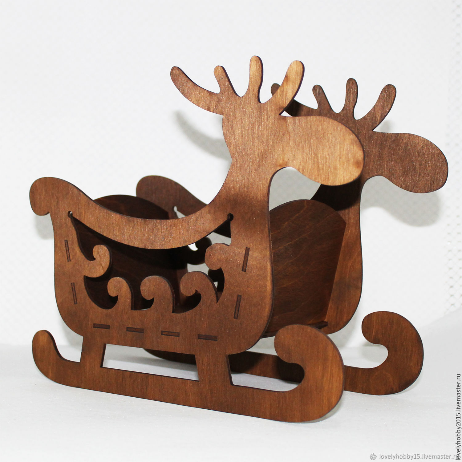 Decorative elements: Sleigh planter 'Deer', Decoupage and painting tools, Moscow,  Фото №1