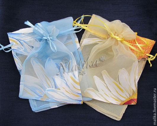 Упаковка ручной работы. Ярмарка Мастеров - ручная работа. Купить 2 цвета, 19х15 см, Мешочки из органзы.. Handmade.