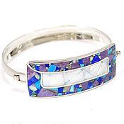 Украшения handmade. Livemaster - original item bracelet. Mosaic from natural stones and mother of pearl. Handmade.