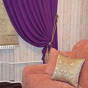 Для дома и интерьера ручной работы. Ярмарка Мастеров - ручная работа Шторы в гостиную - фиалка. Handmade.