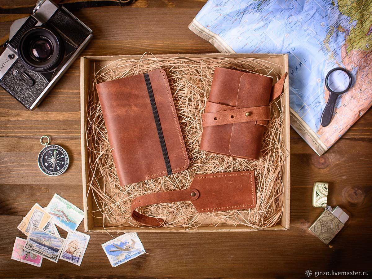 Подарочный набор аксессуаров из натуральной кожи -WEEKEND-, Подарочные боксы, Тула,  Фото №1