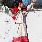 """Русский стиль ручной работы. Ярмарка Мастеров - ручная работа Женская рубаха """"Девушка Весна"""". Handmade."""