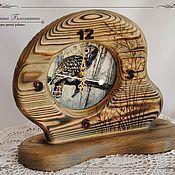 """Для дома и интерьера ручной работы. Ярмарка Мастеров - ручная работа Часы и шкатулка - купюрница """"Мудрая сова"""". Handmade."""