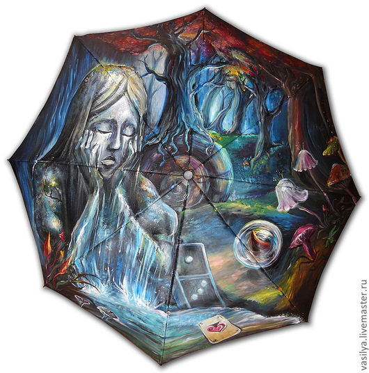 Зонты ручной работы. Ярмарка Мастеров - ручная работа. Купить печаль Алисы. Handmade. Рисунок, хендмейд, алиса, магия