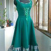 Одежда ручной работы. Ярмарка Мастеров - ручная работа Бохо-сарафан Баварская весна. Handmade.