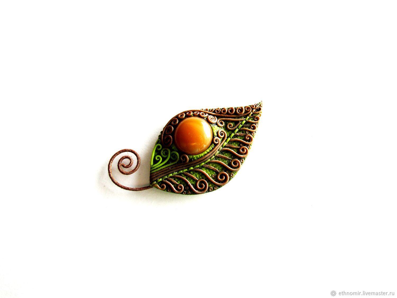 Brooch 'Leaf' series 'Fantasy brooches', Brooches, Irbit,  Фото №1