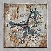 Часы настенные Забытый джаз декупаж